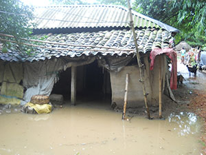 An affected mud house