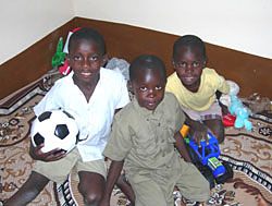 Image of children playing with CCF-donated toys