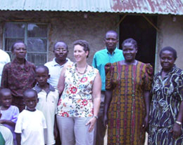 Image of sponsor Andrea Loewy and her sponsored child and his family