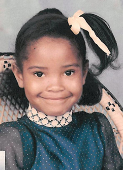 Image of Shauntay Hinton as a sponsored child in Project Brickfire