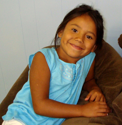 Image of a young girl on the Rosebud Reservation in South Dakota