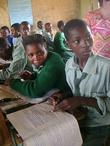 Zambian teenagers in a classroom