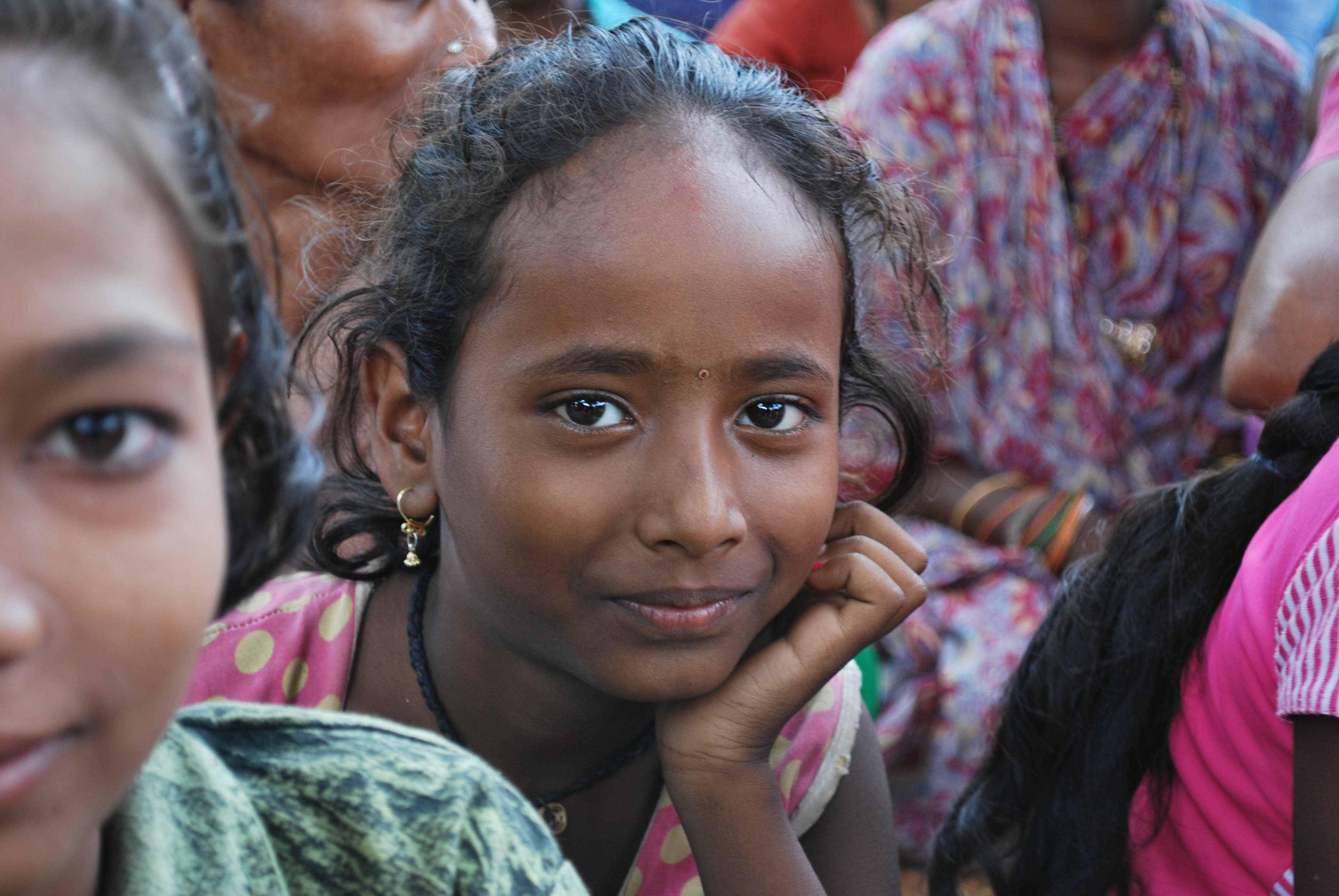 Young girl in India.