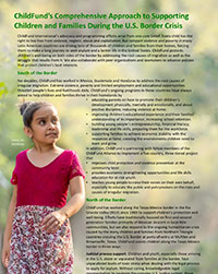 ChildFund's Comprehensive Approach to Supporting Children and Families During the U.S. Border Crisis