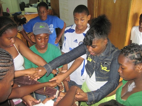 youth in Dominica learn to creatively express their feelings about teen pregnancy, drug abuse and domestic violence.