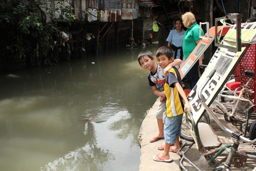 Flooding in Manila is a common and destructive occurrence.