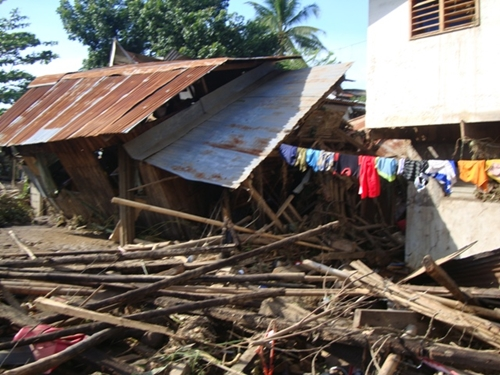 Thousands of homes were destroyed by Typhoon Washi in the Philippines, in December 2011.