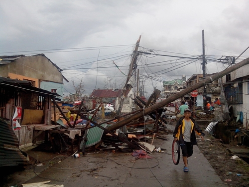The city of Ormoc was devastated by Typhoon Haiyan.