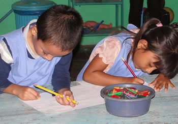 Image of children at a preschool in Honduras