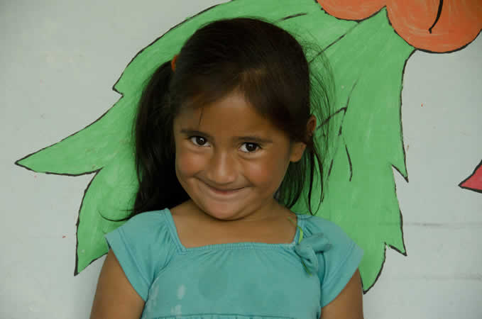 Vanessa, 5, benefited from Ecuador's Family Formation program in her village.