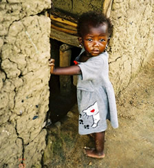 Image of little girl in Liberia